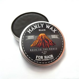 "Воск для волос MANLY WAX ""Black"" 100мл."